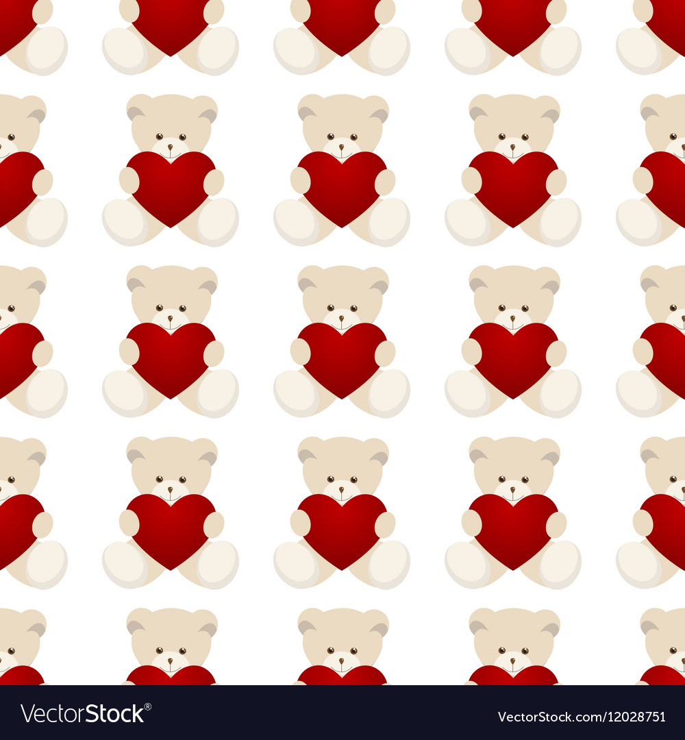 Teddy Bear Valentines Day Card vector image