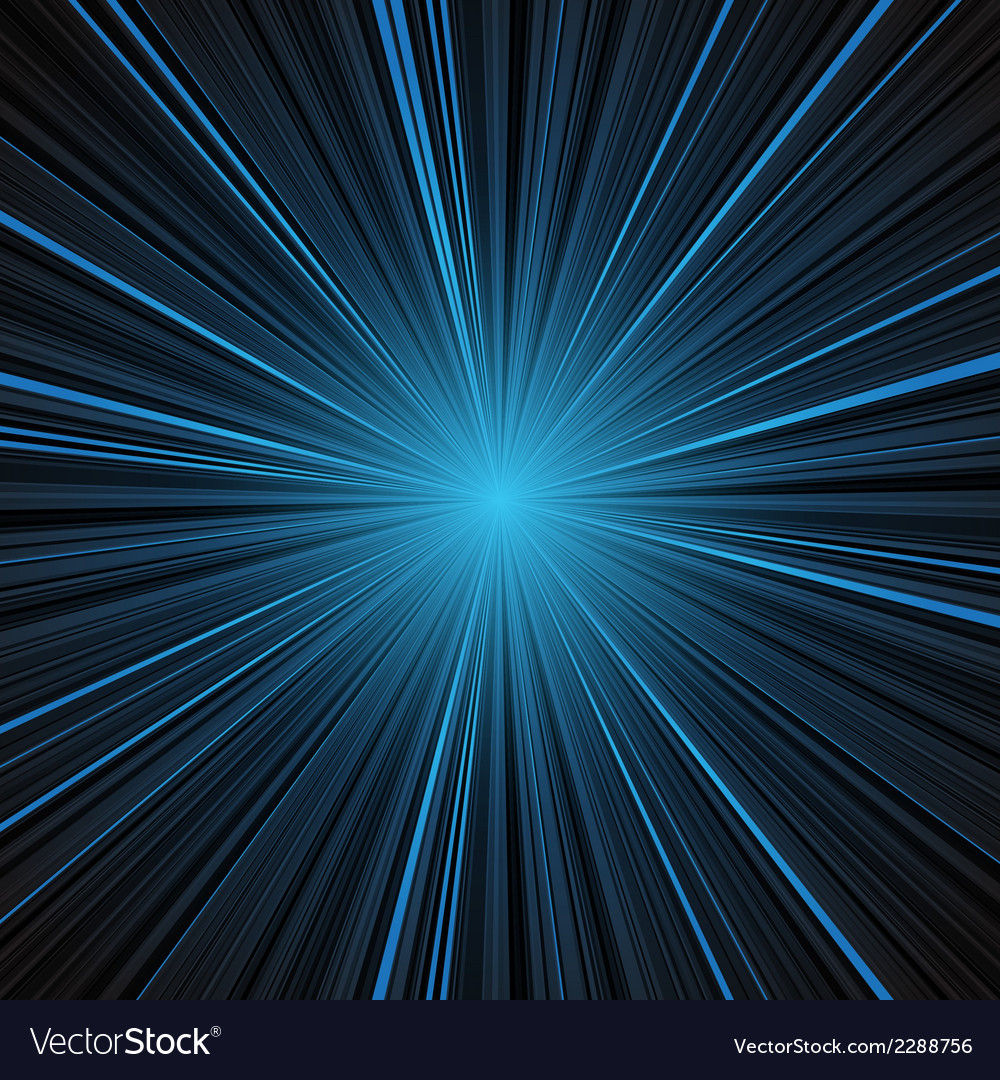 Abstract blue stripes burst background vector image