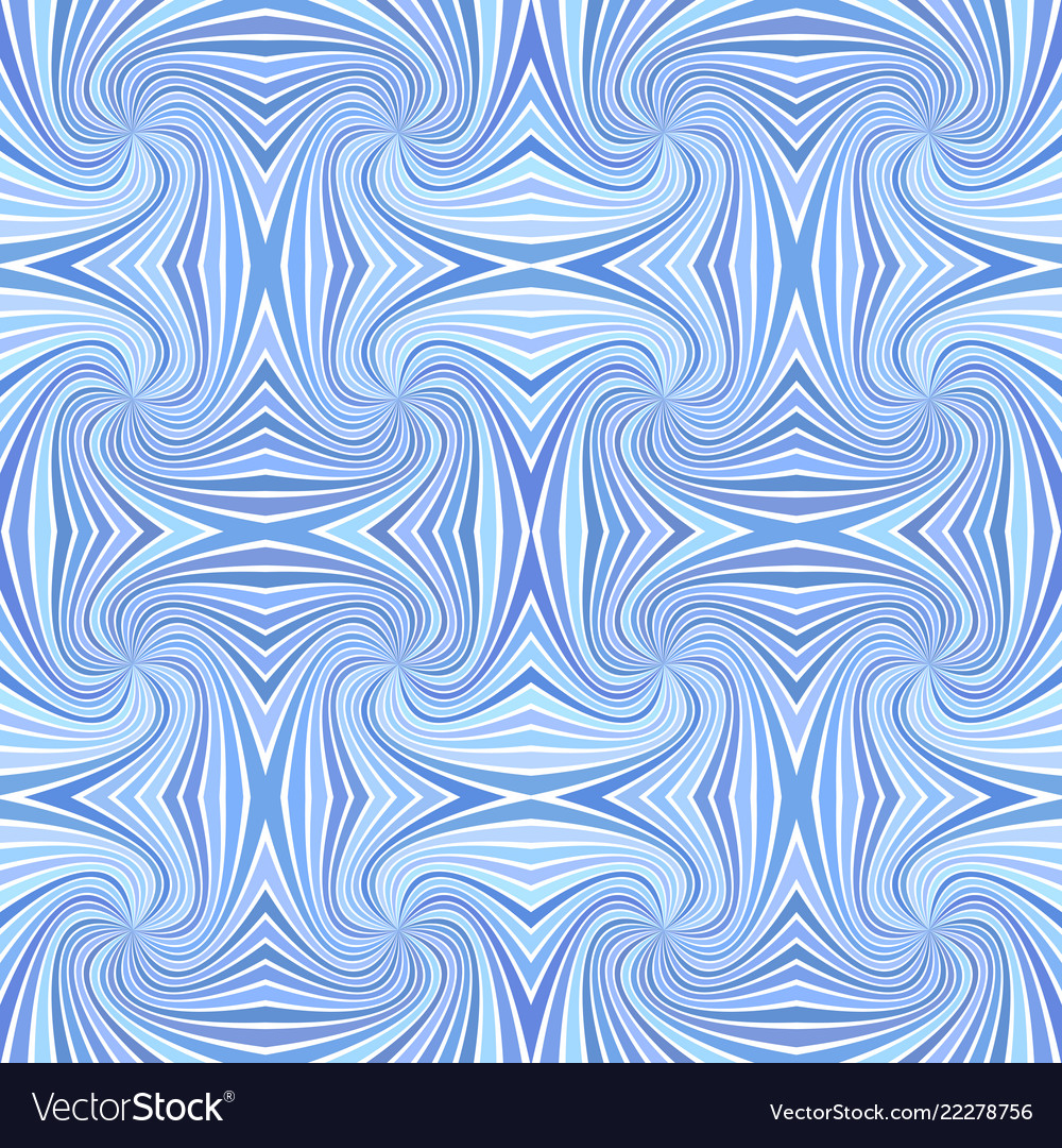 Blue seamless abstract psychedelic spiral stripe