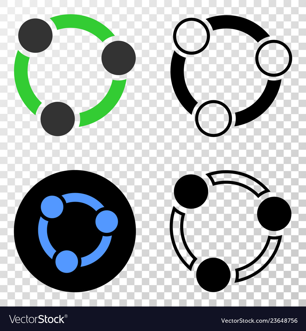 Collaboration eps icon with contour version