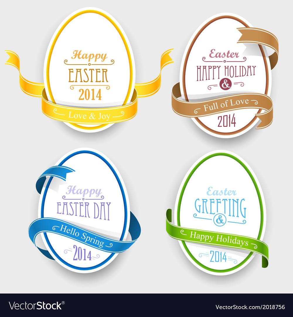 Easter emblems vector image