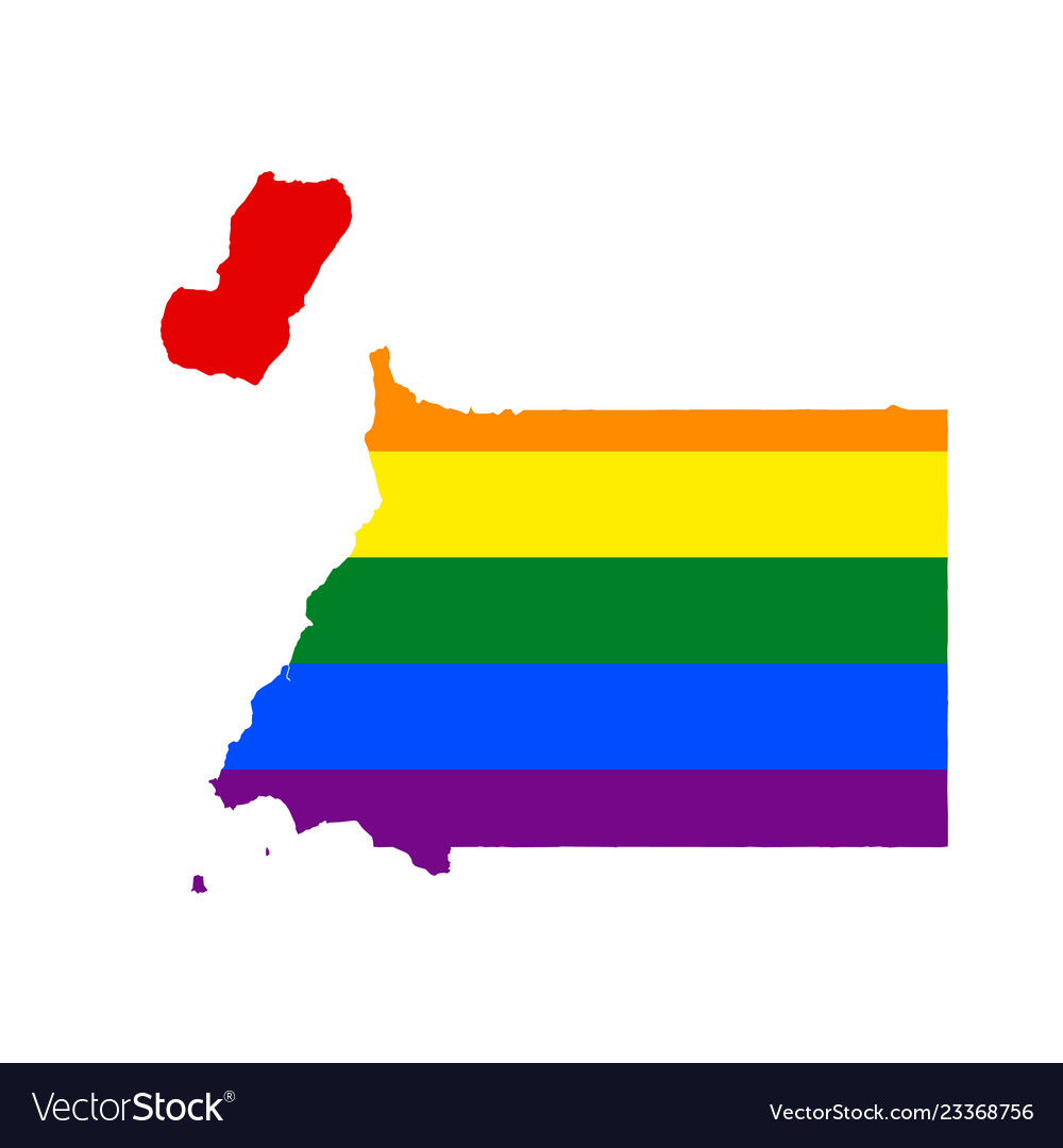 Lgbt flag map of equatorial guinea rainbow map of Vector Image