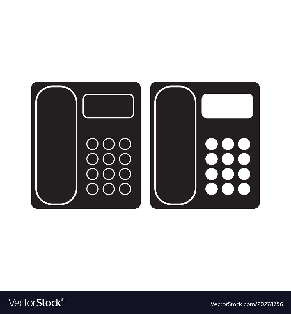 Office phone icon telephone flat sign isolated on