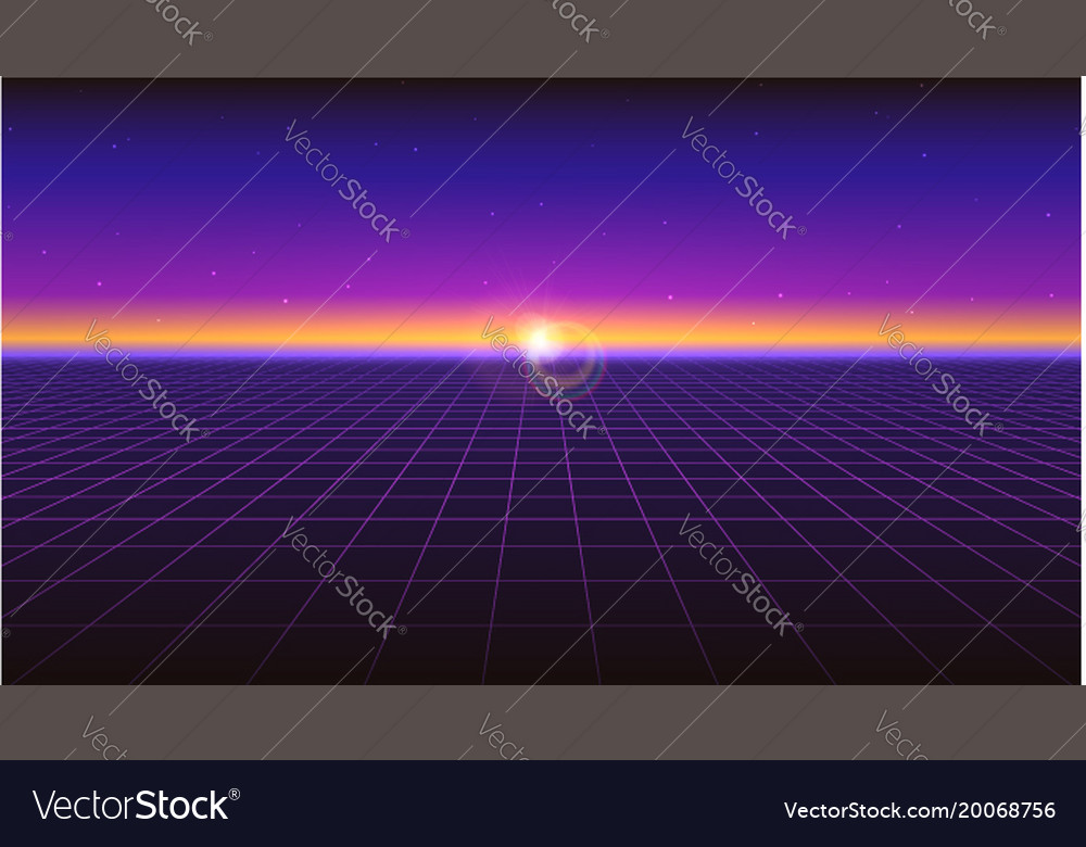 Sci fi futuristic horizontal abstract background vector image