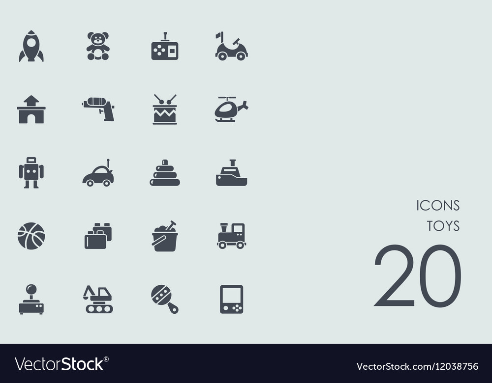 Set of toys icons