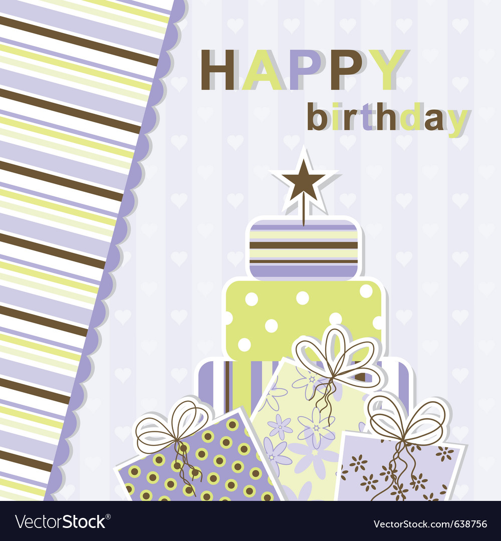 Template birthday greeting card vector 638756 by Tolchi