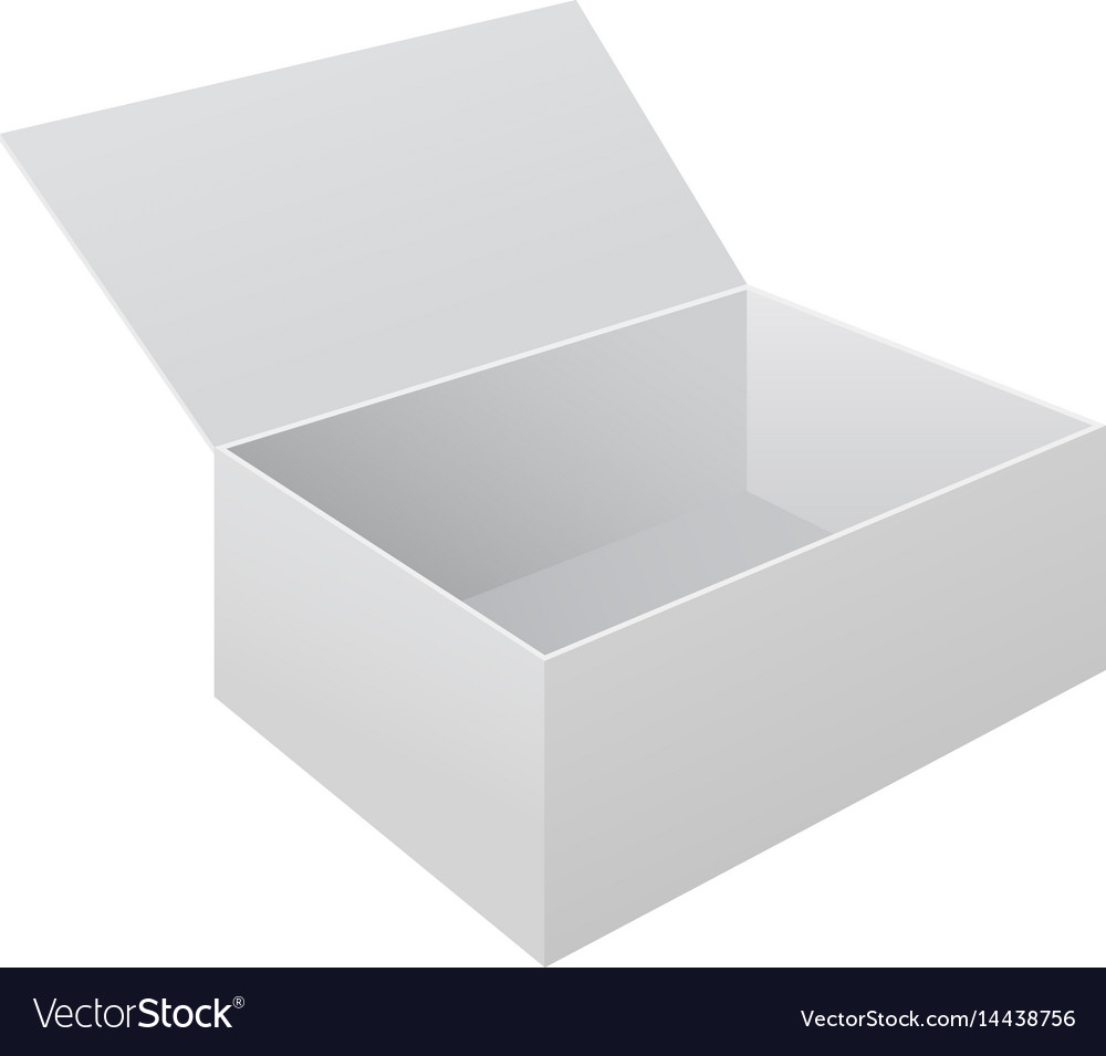White open paper box