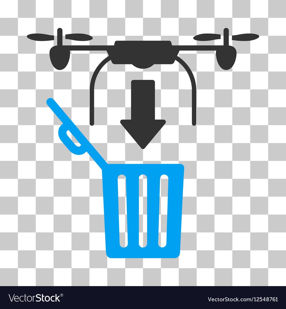 Drone Drop Trash Icon