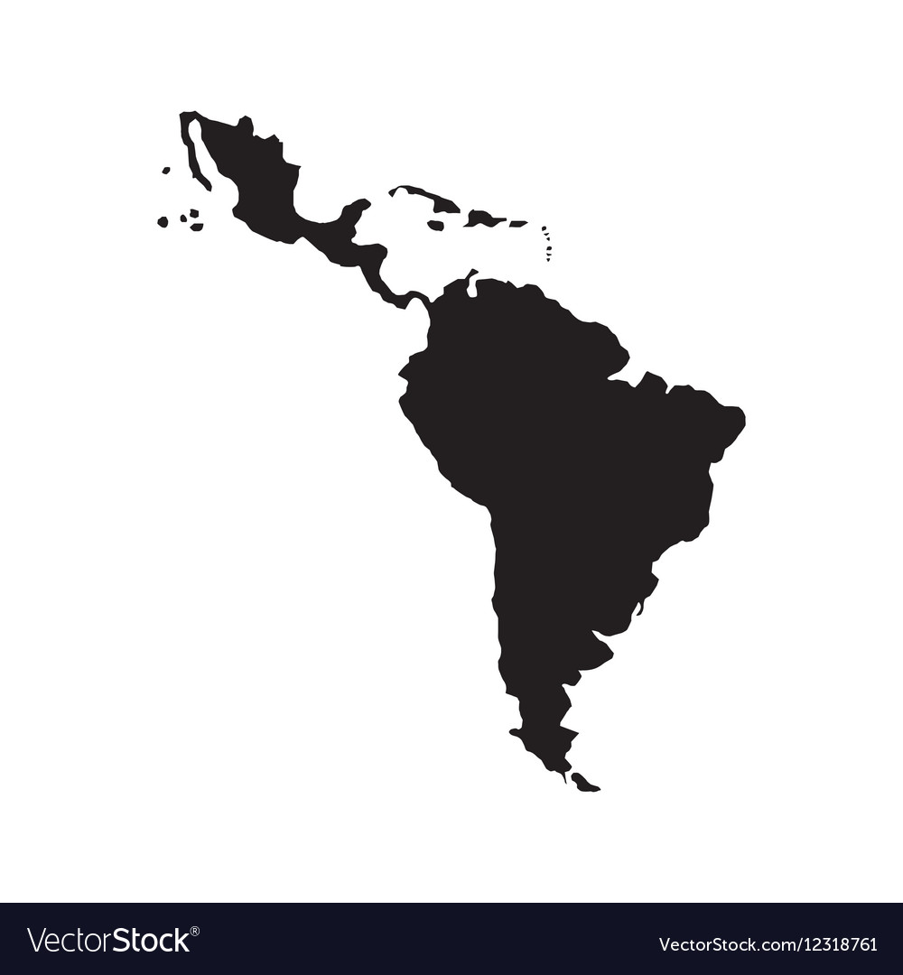 Latin america map Royalty Free Vector Image   VectorStock