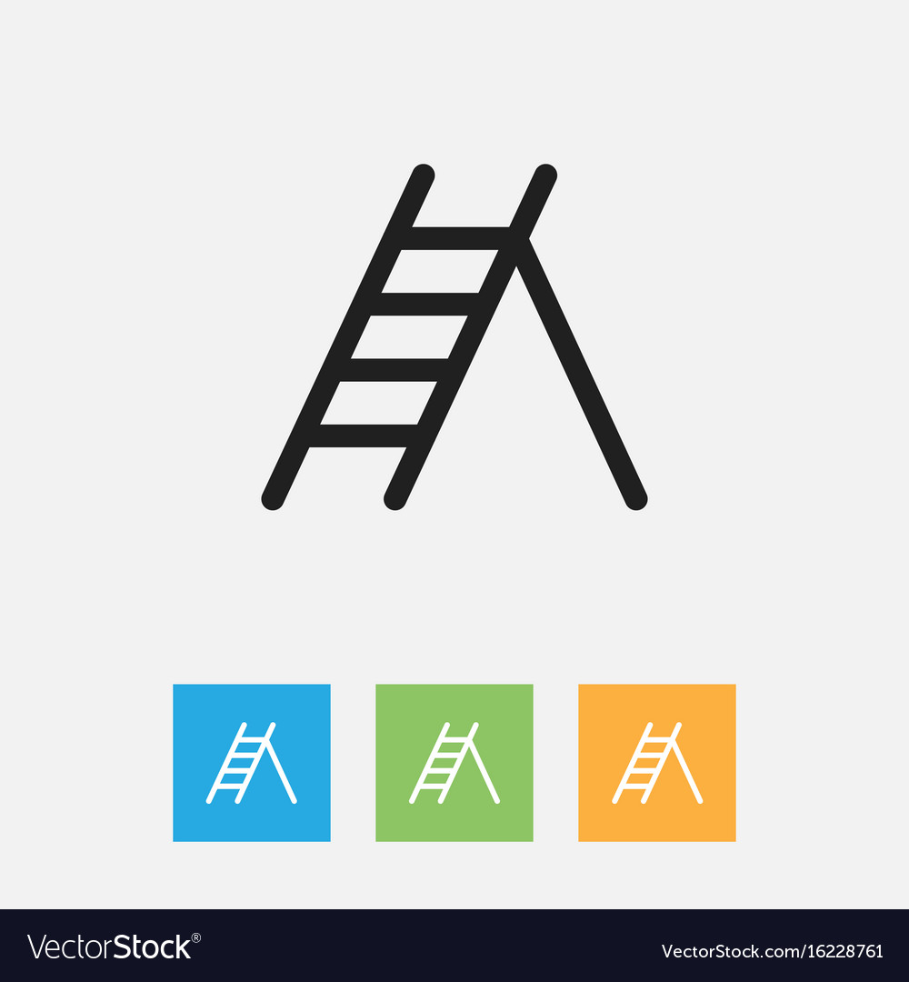 Of instrument symbol on ladder vector image