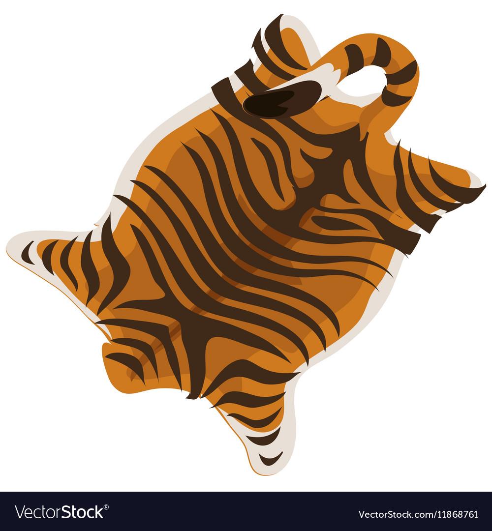 Tiger skin as a carpet