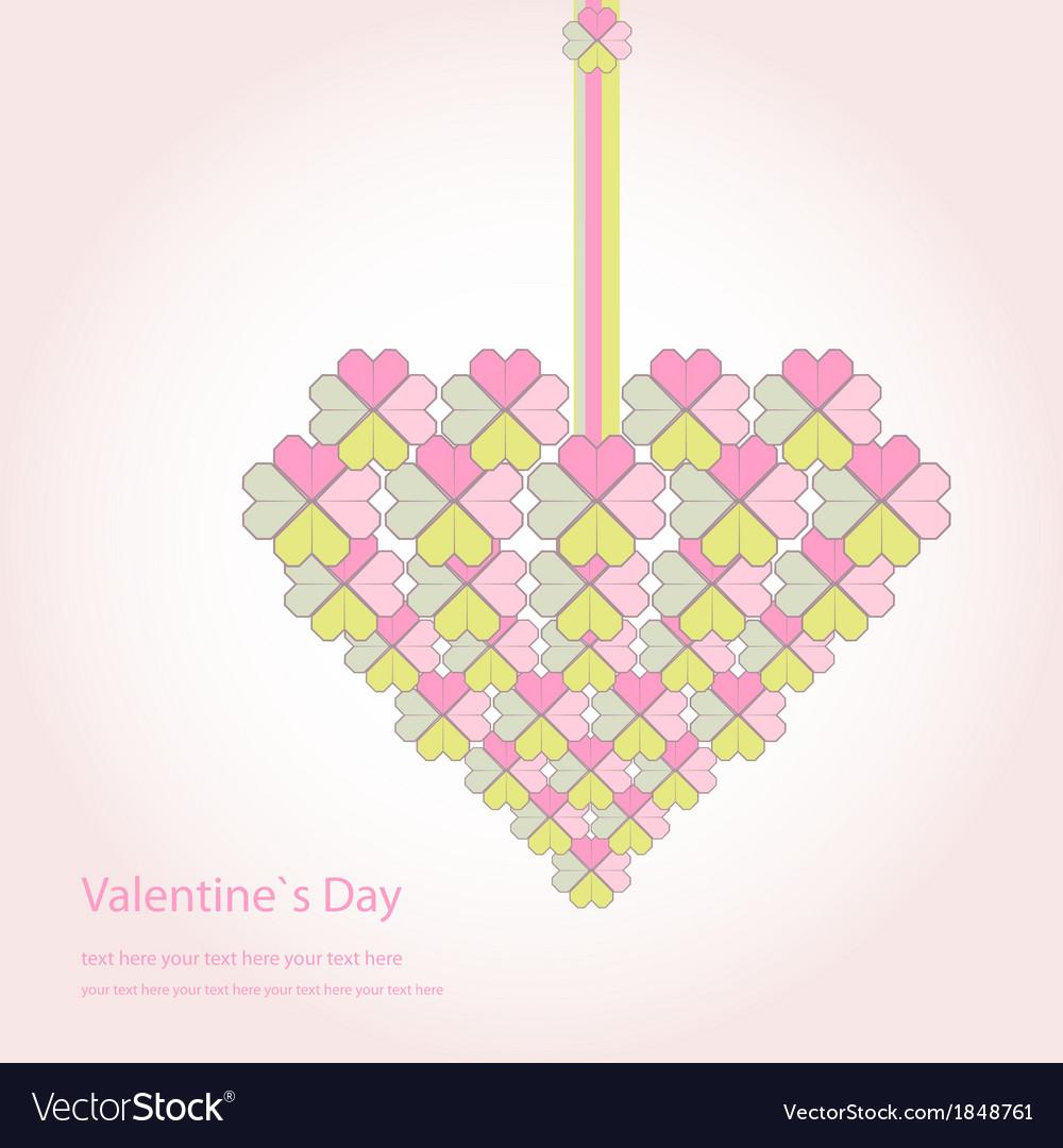 Valentine decorative love heart