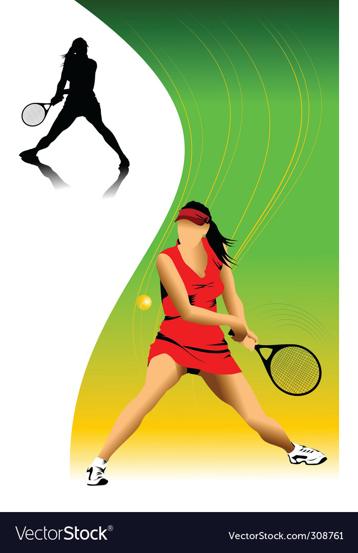 Woman in tennis