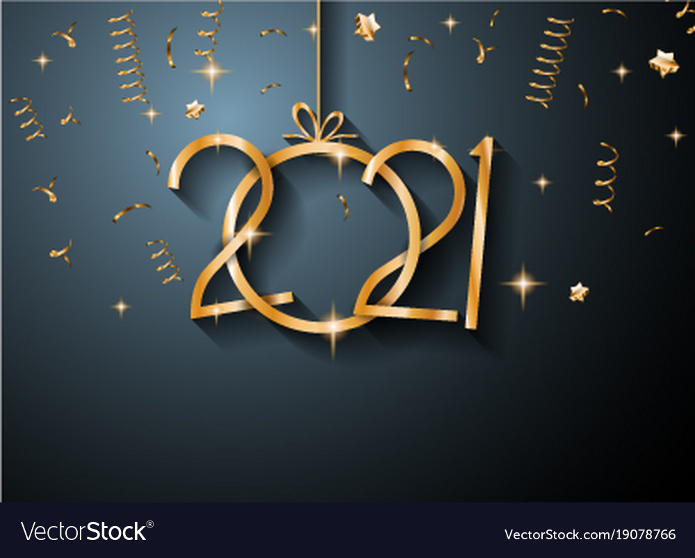 2021 happy new year background for your seasonal Vector Image