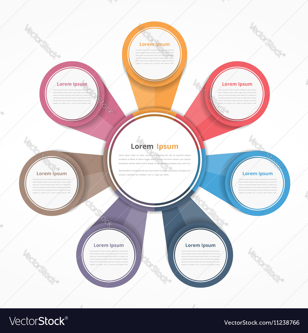 Circle diagram with seven elements royalty free vector image circle diagram with seven elements vector image ccuart Choice Image