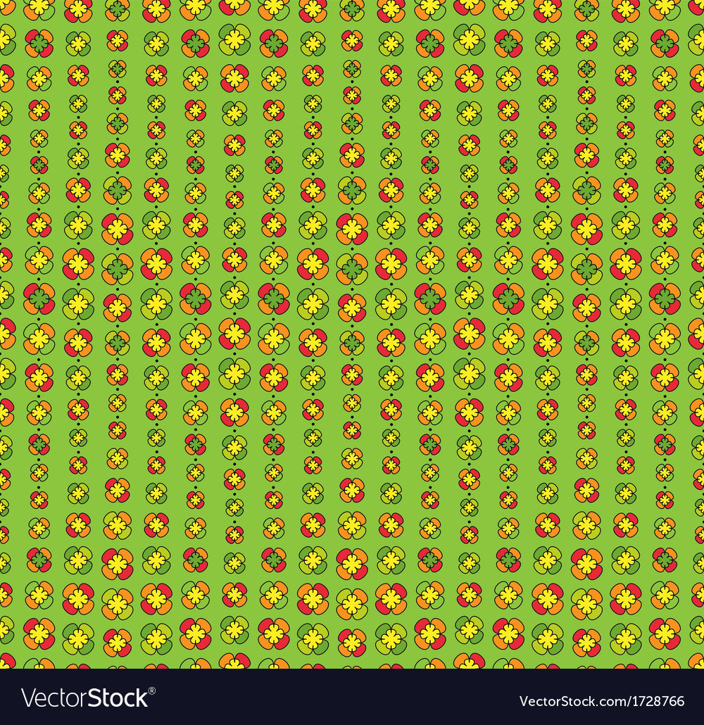Colorfull seamless floral pattern vector image