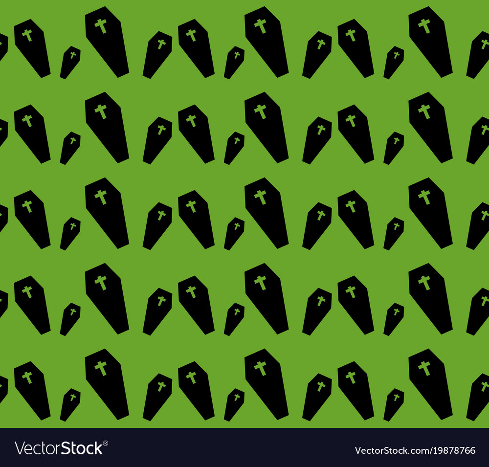 Dead coffin pattern vector image