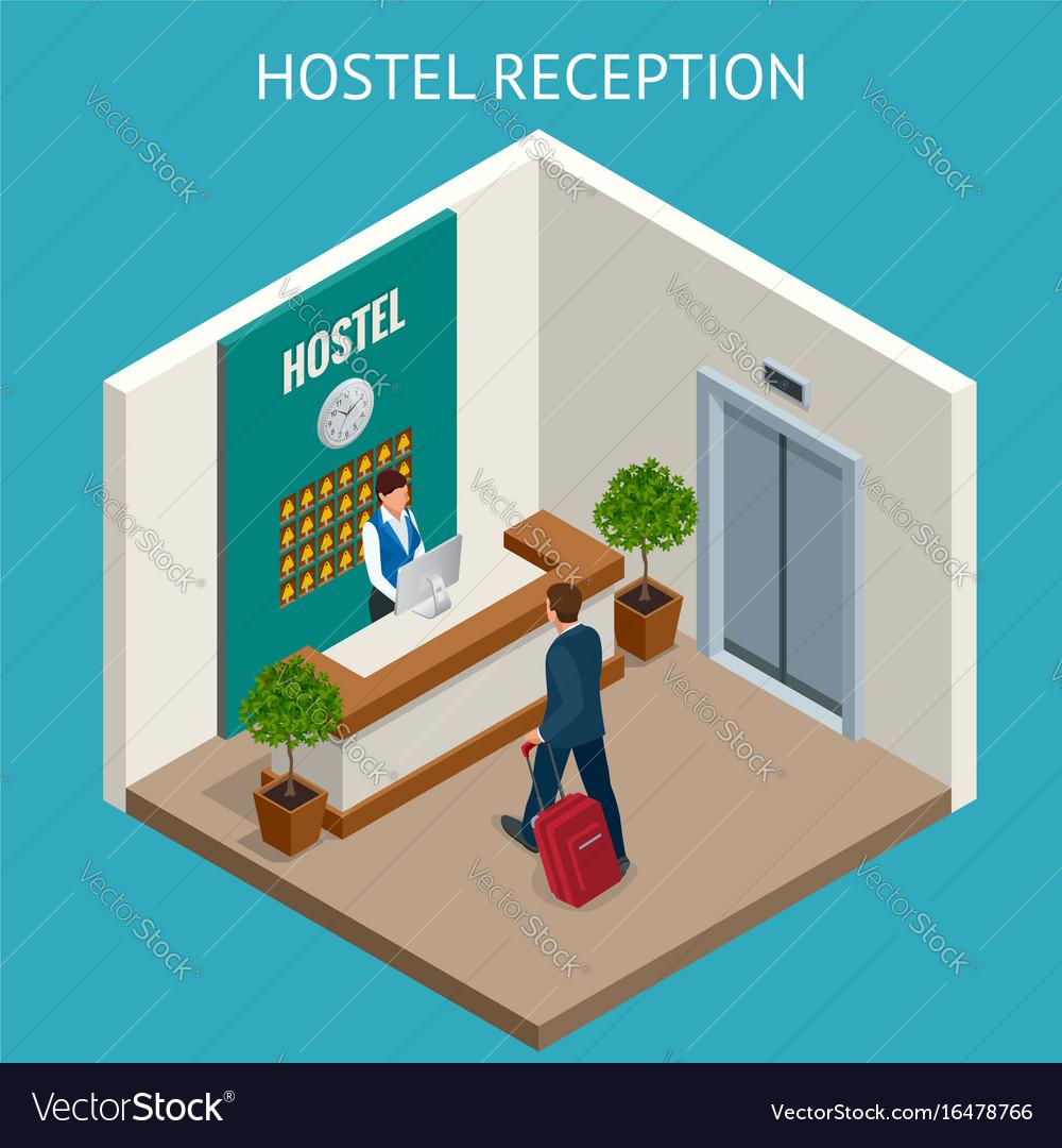 Hotel receptionist modern luxury hotel reception