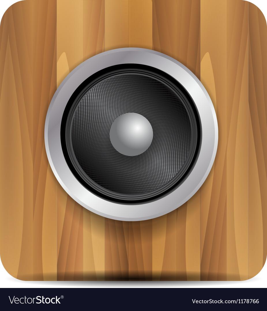 Loudspeaker on wood