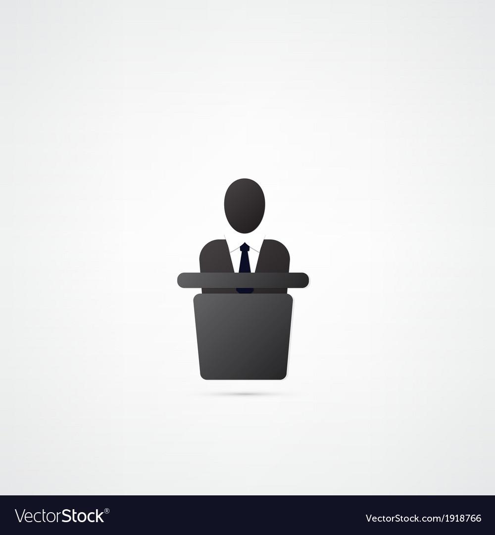 Meeting symbol vector image
