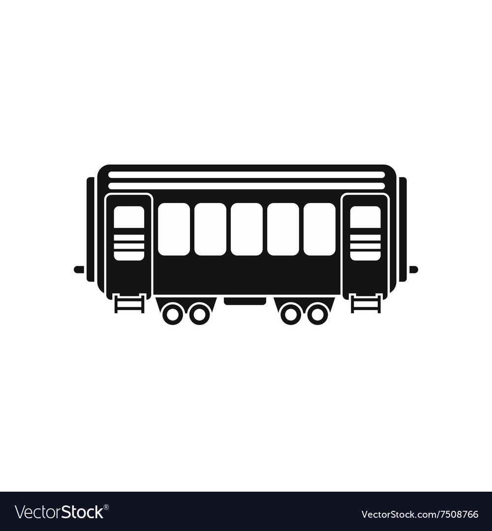 Passenger railway waggon icon