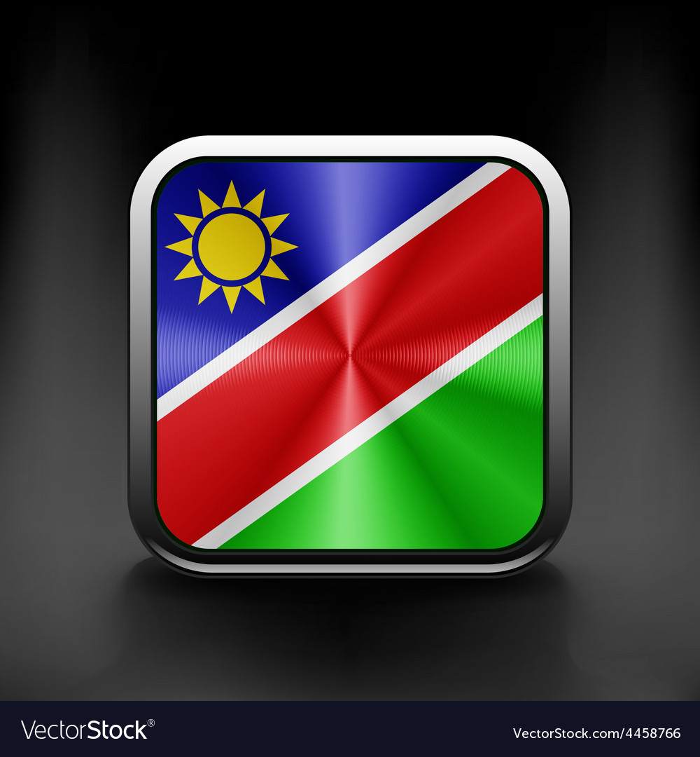 Sovereign state flag of country of Namibia in