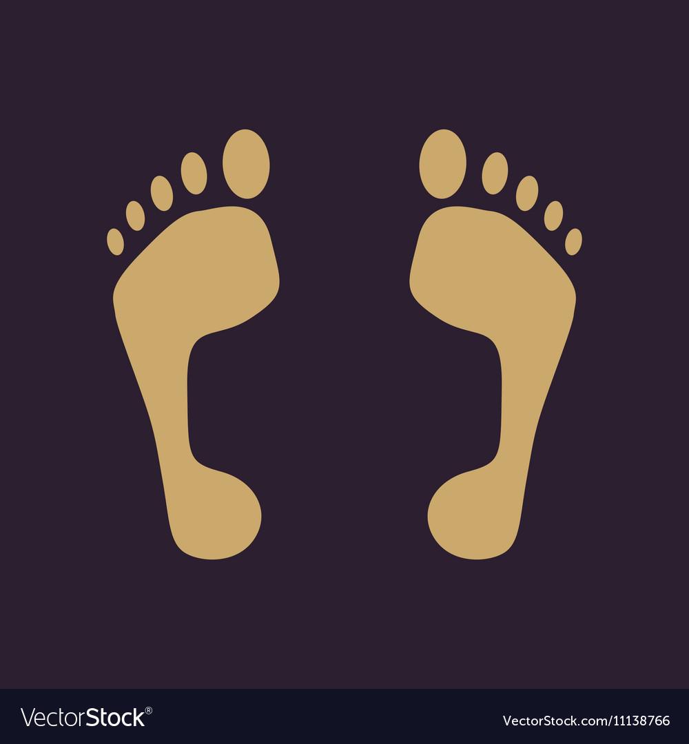 The footprint icon foot symbol Flat