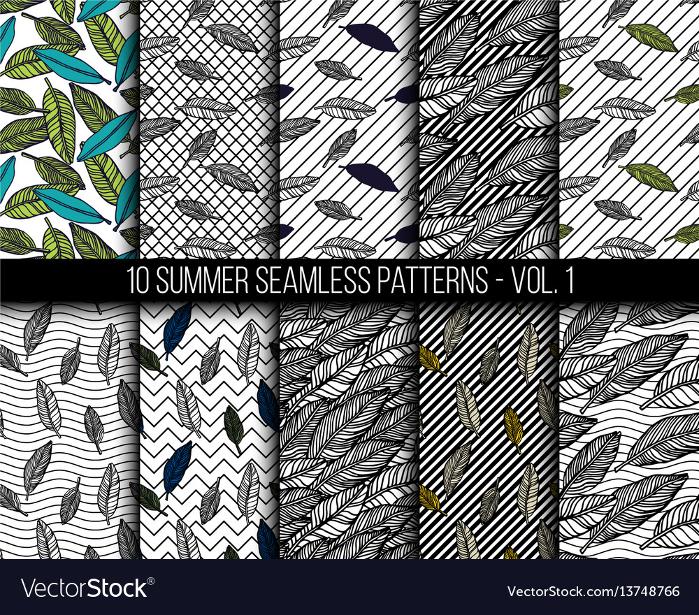 Tropical seamless patterns set