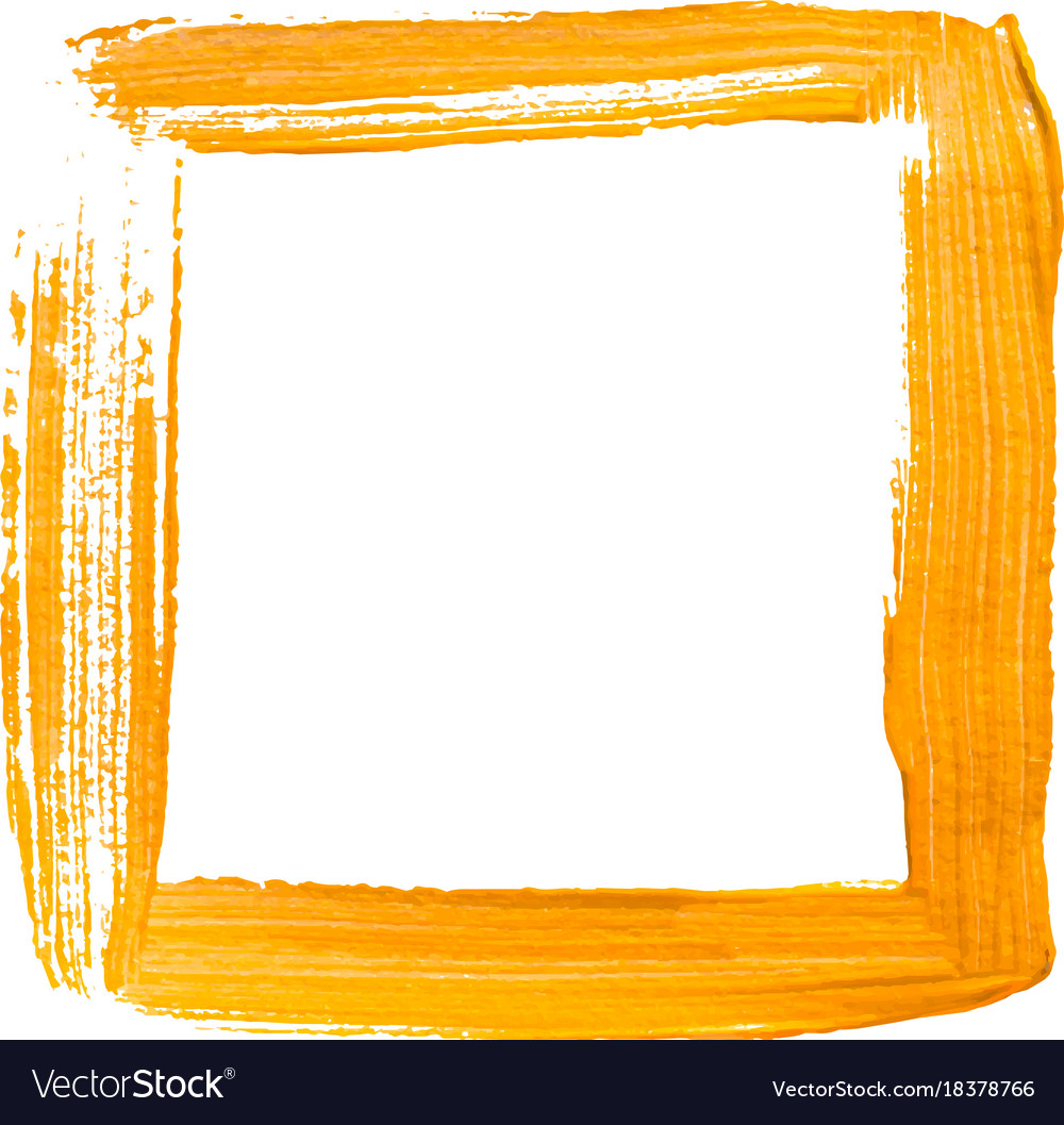 Yellow Painted Square Frame Royalty Free Vector Image
