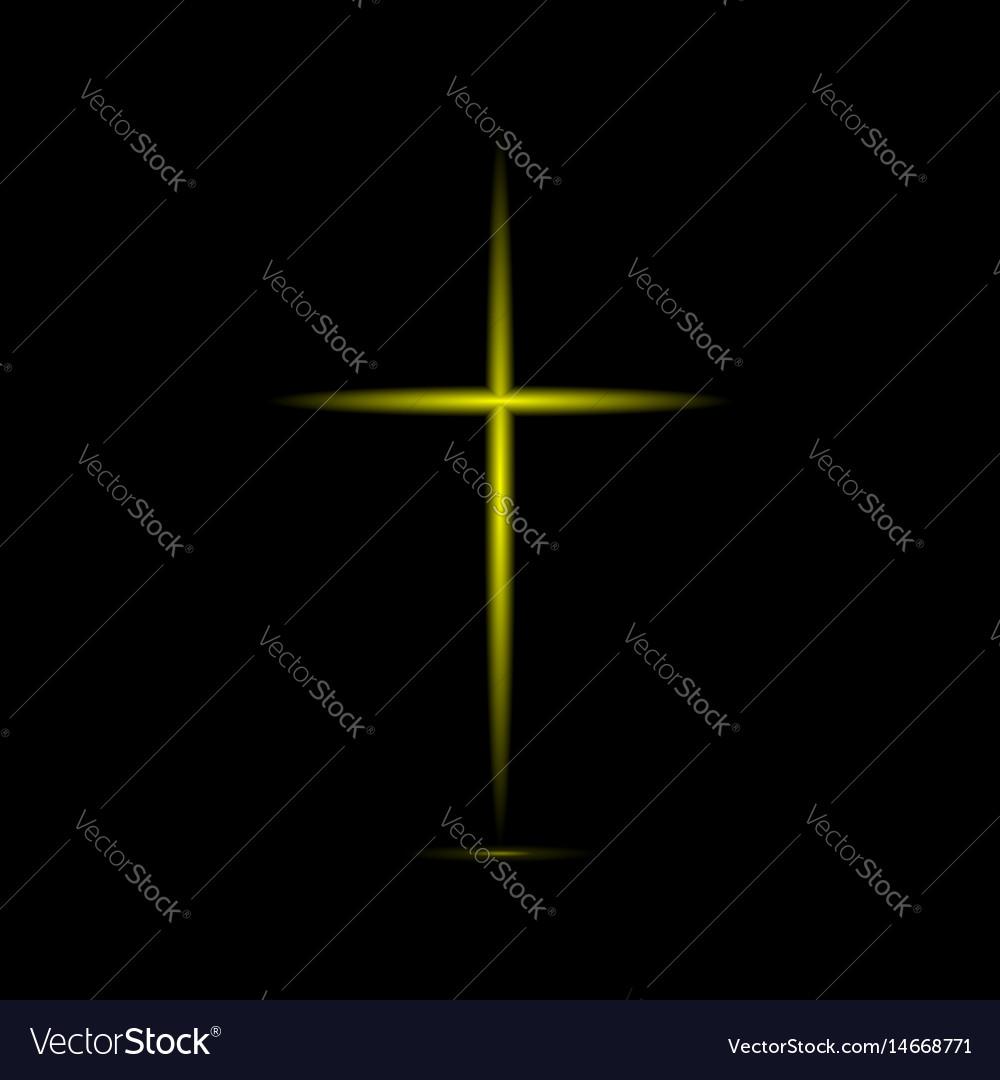 Abstract golden cross