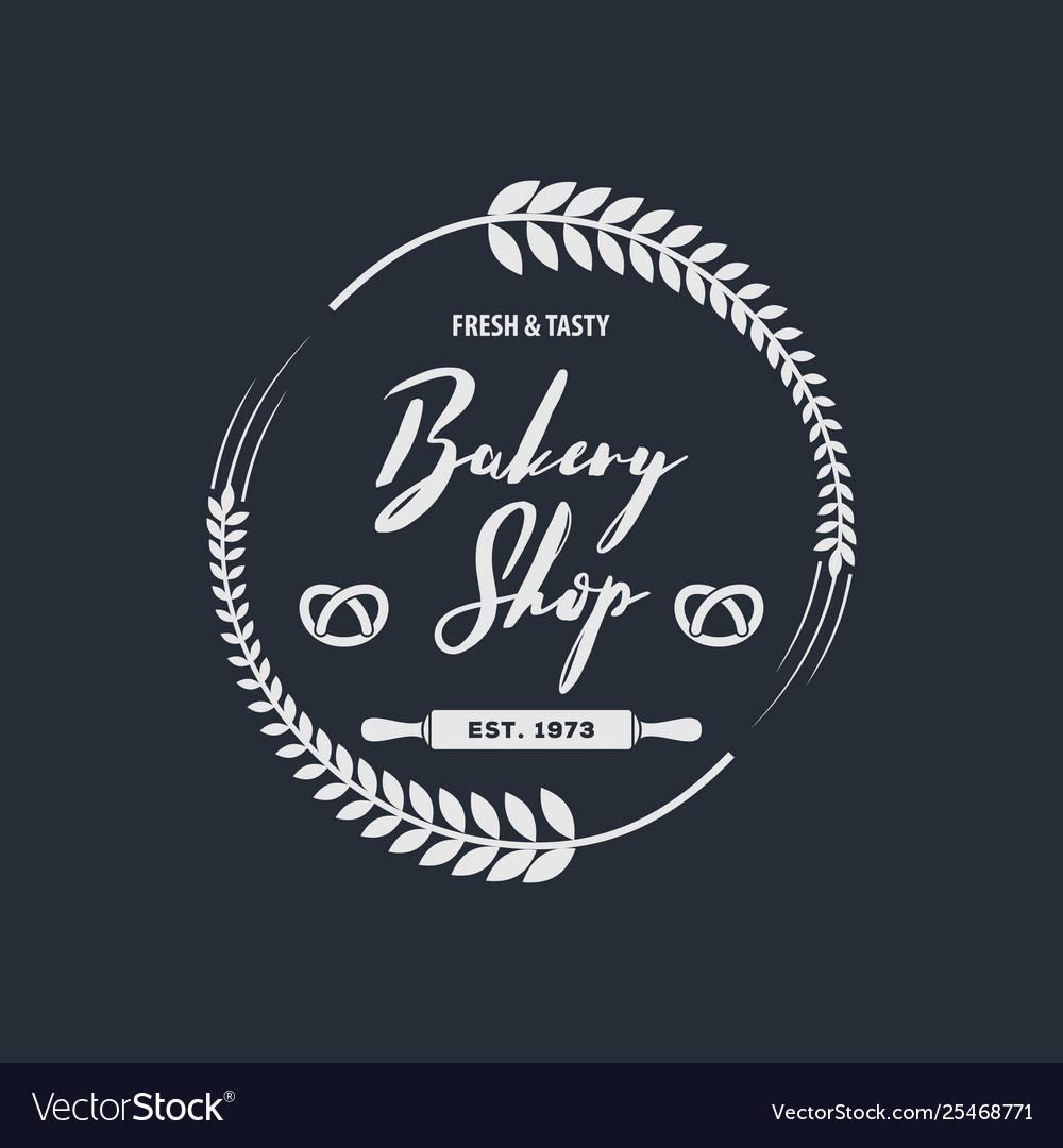 Bakery or bread shop logo emblem in vintage style