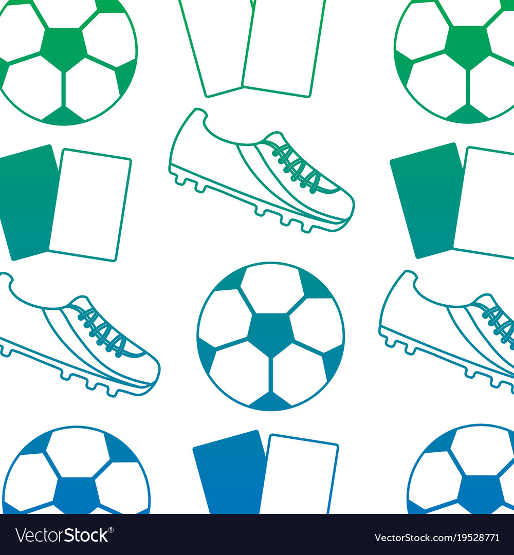 Ball cleat cards football soccer pattern image