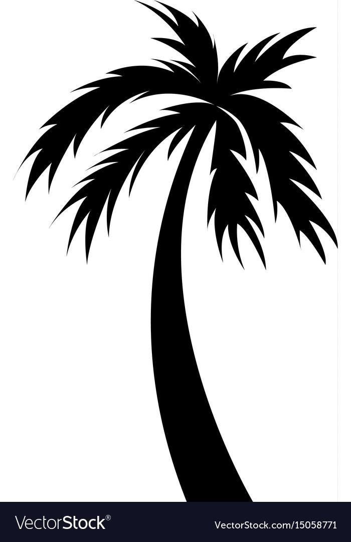 Black icon palm cartoon