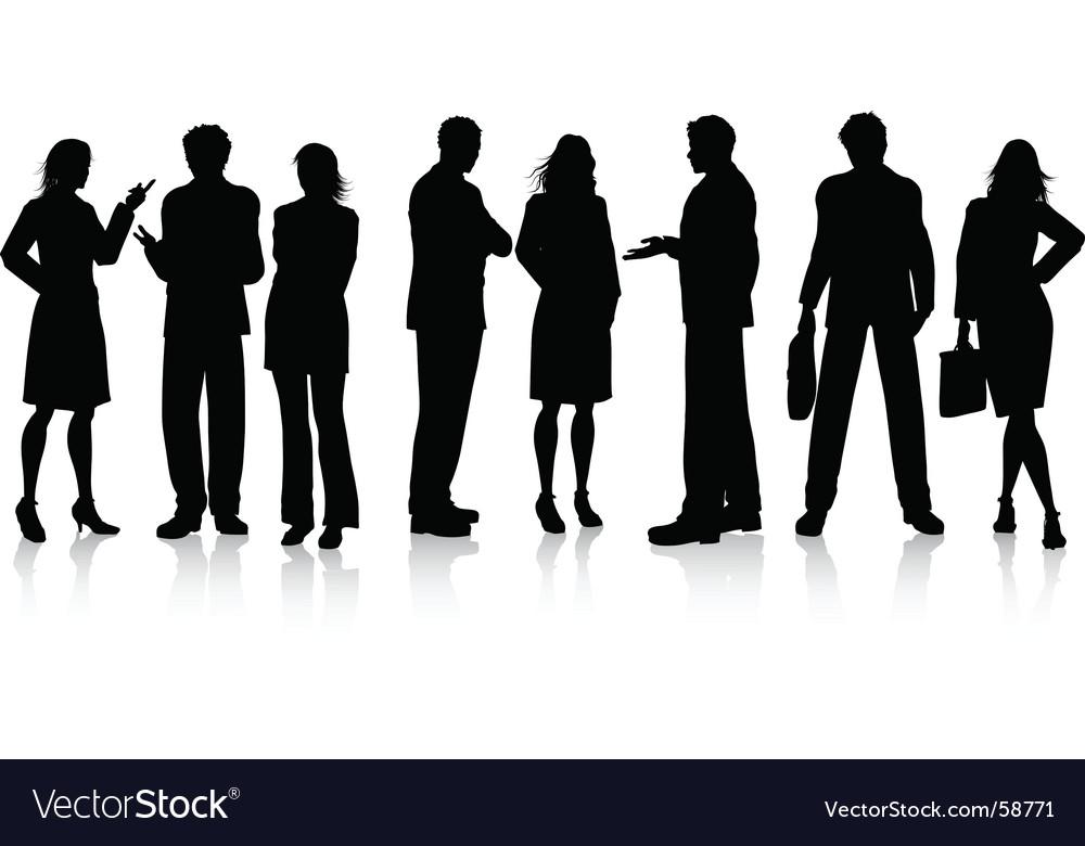 Business conversations vector image