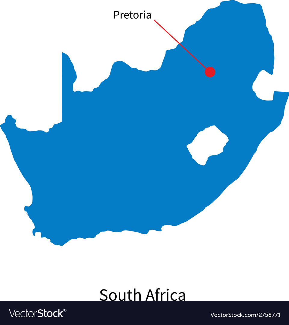 Capital Of South Africa Map Detailed map south africa and capital city Vector Image