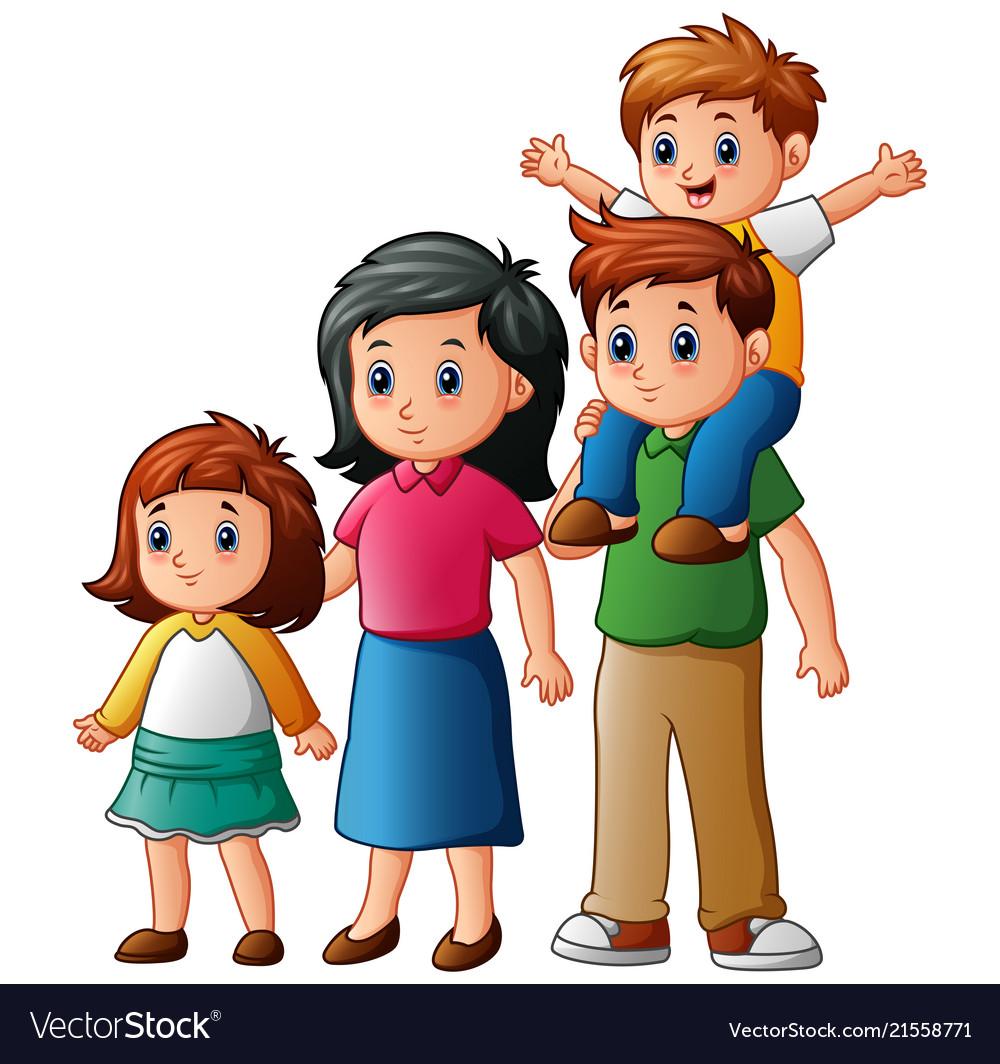 Happy family cartoon Royalty Free Vector Image