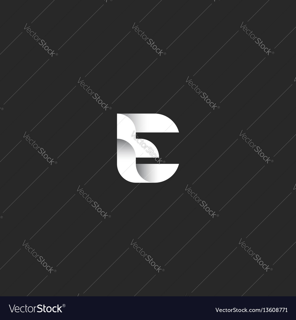 Logo e letter idea gradient monogram business card vector image