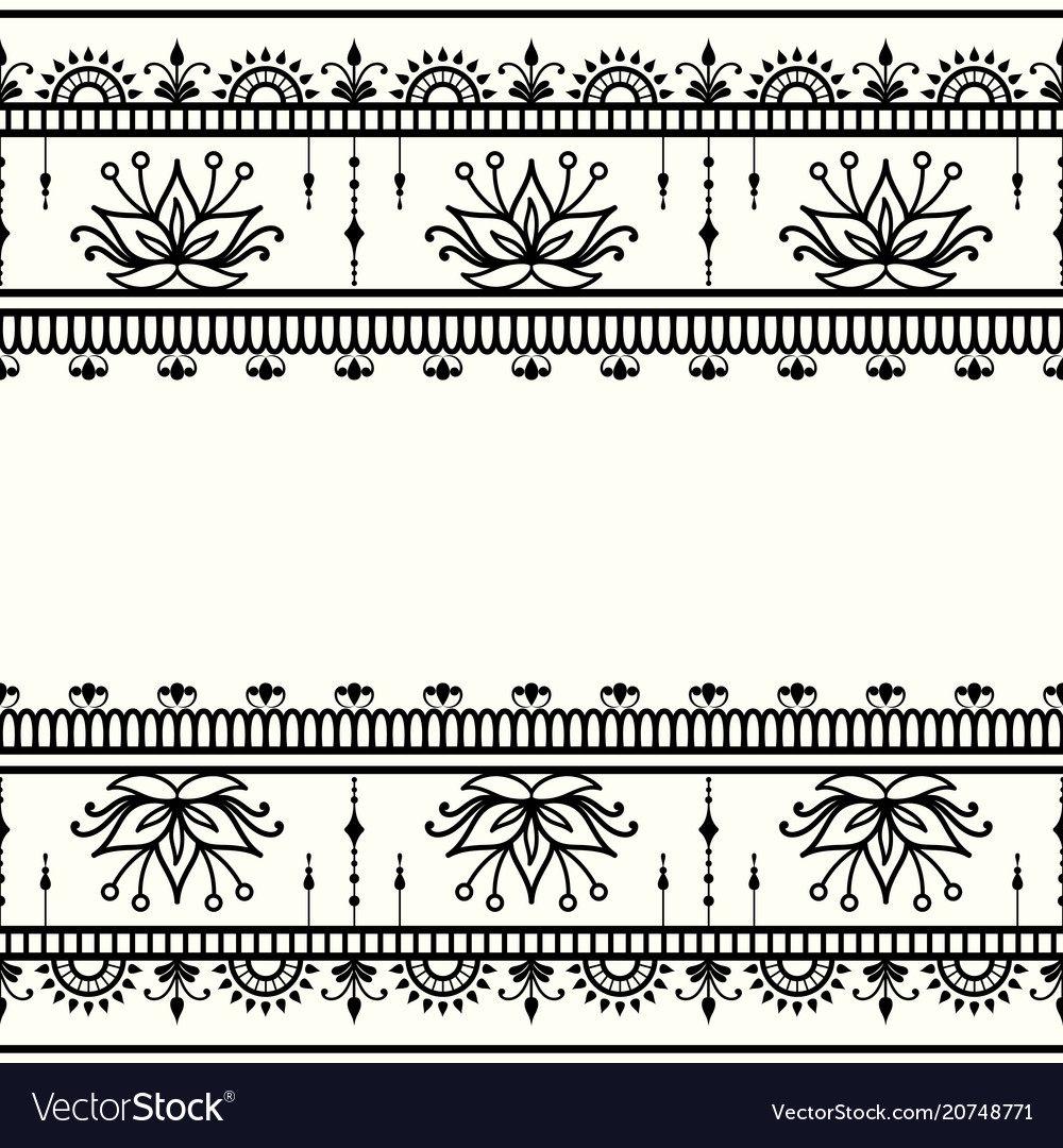 Mehndi decorative template in indian style