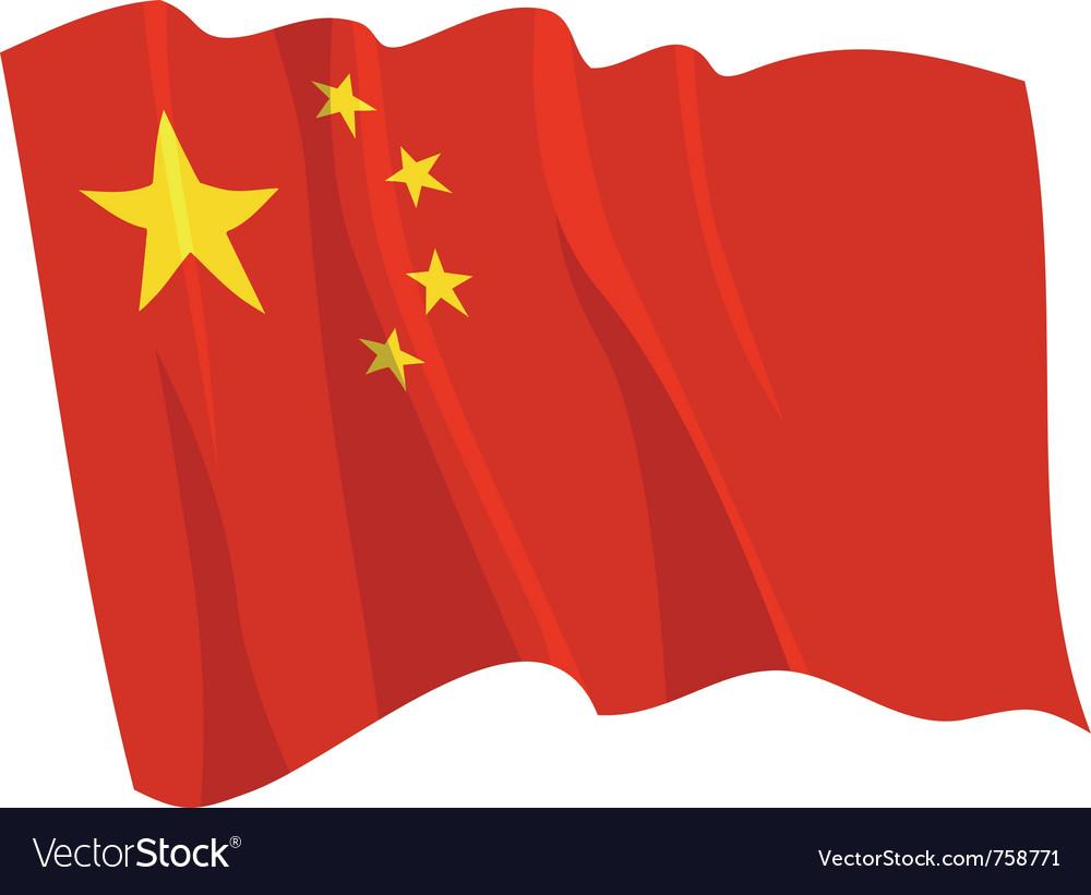 Political waving flag of china vector image