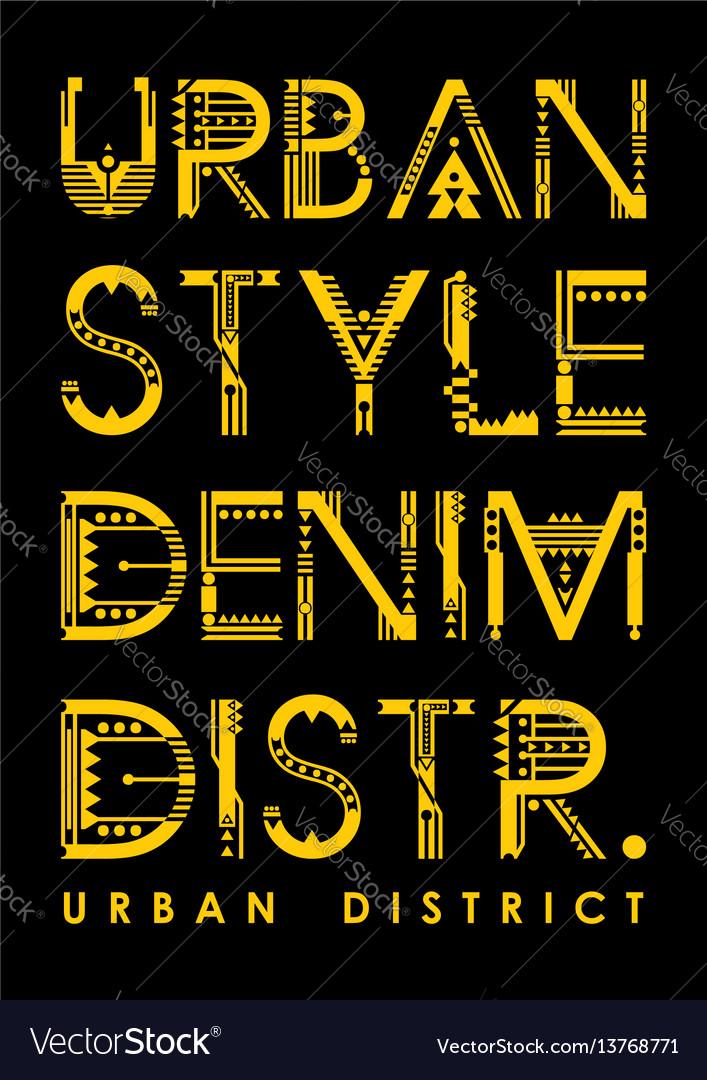 Typography urban district