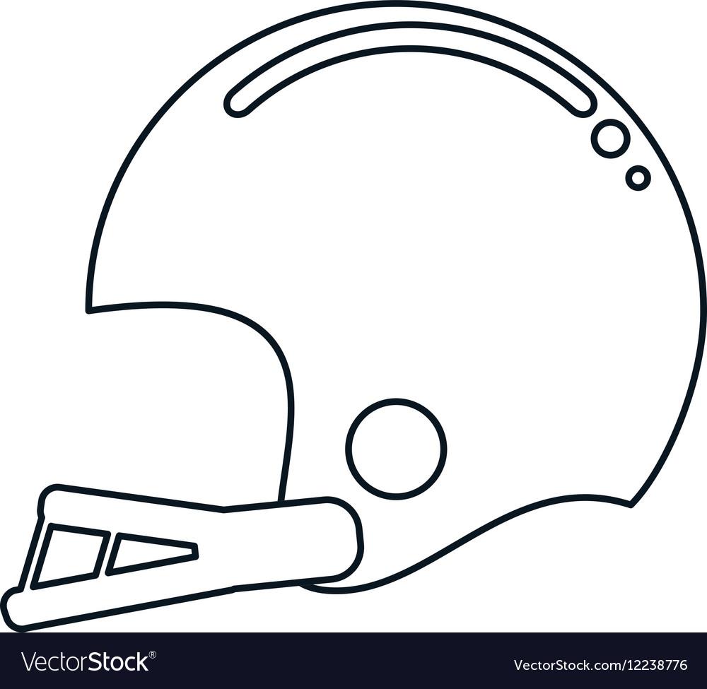 American football helmet sport outline