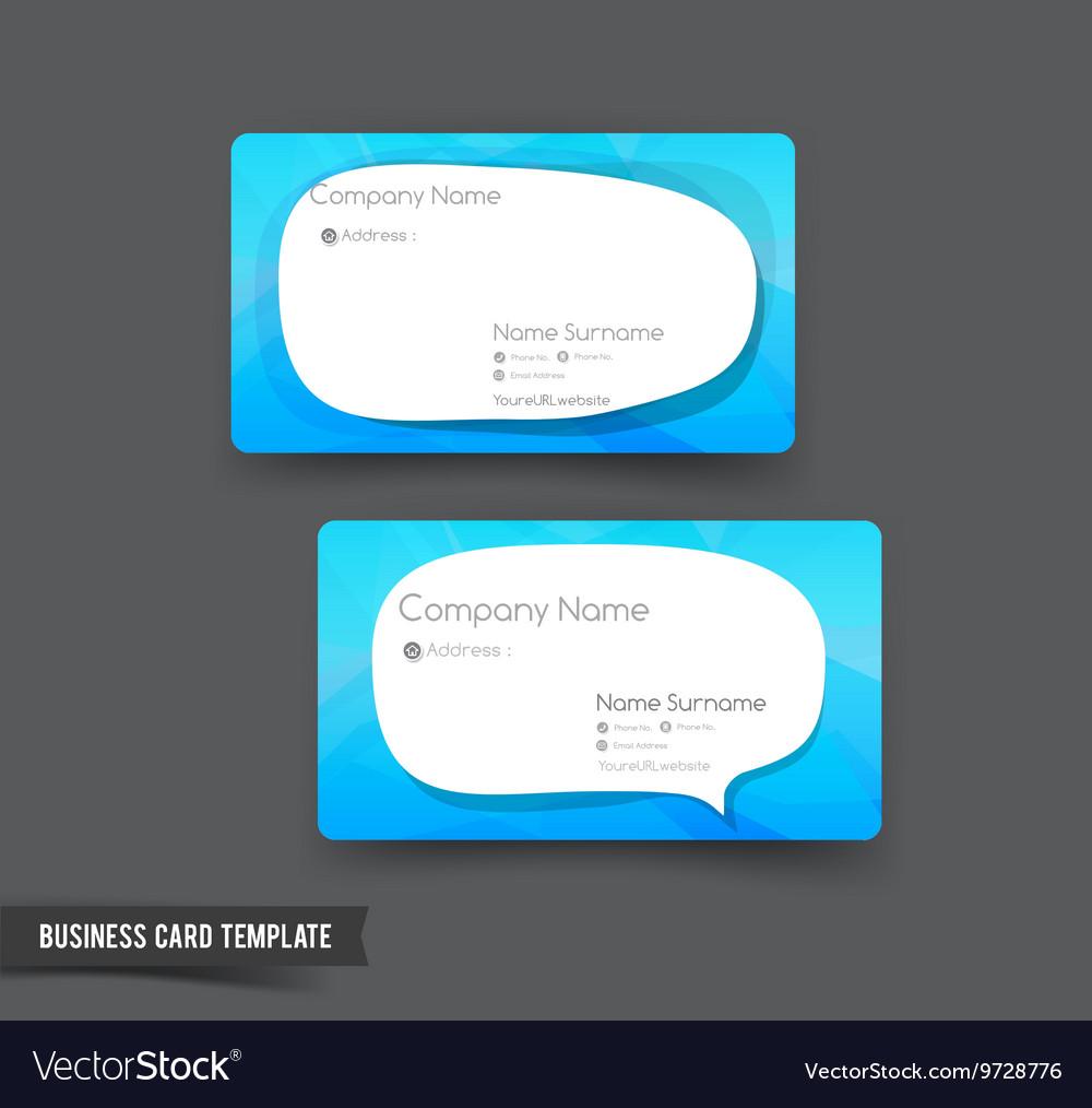 Business Card template set 51 blue and speech