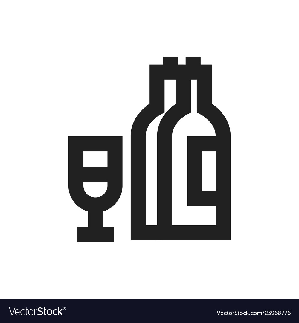 Concept of alcohol symbol icon
