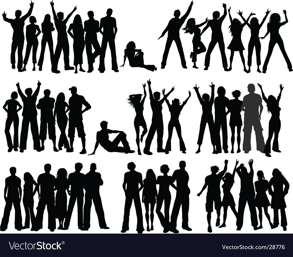 Crowds vector image