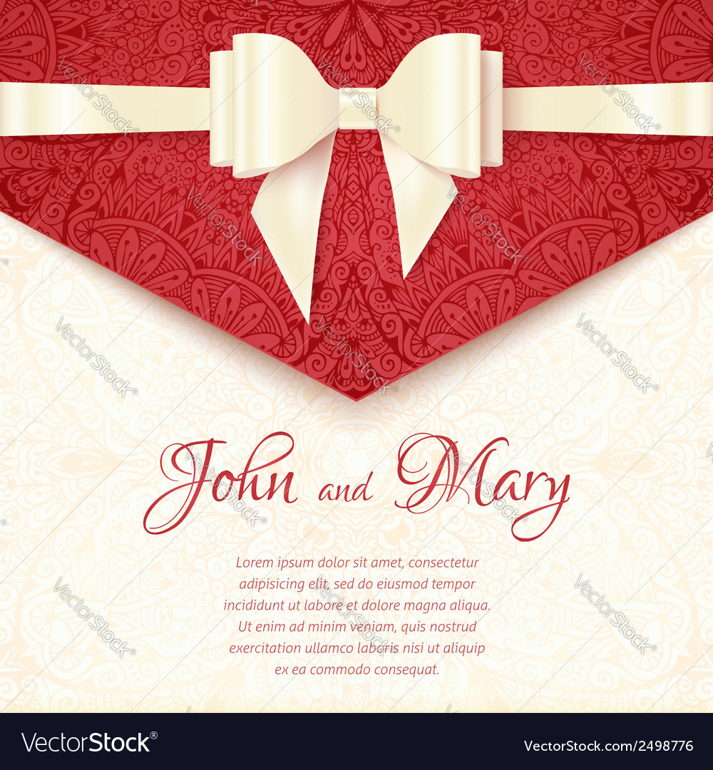 Elegant wedding card template Royalty Free Vector Image