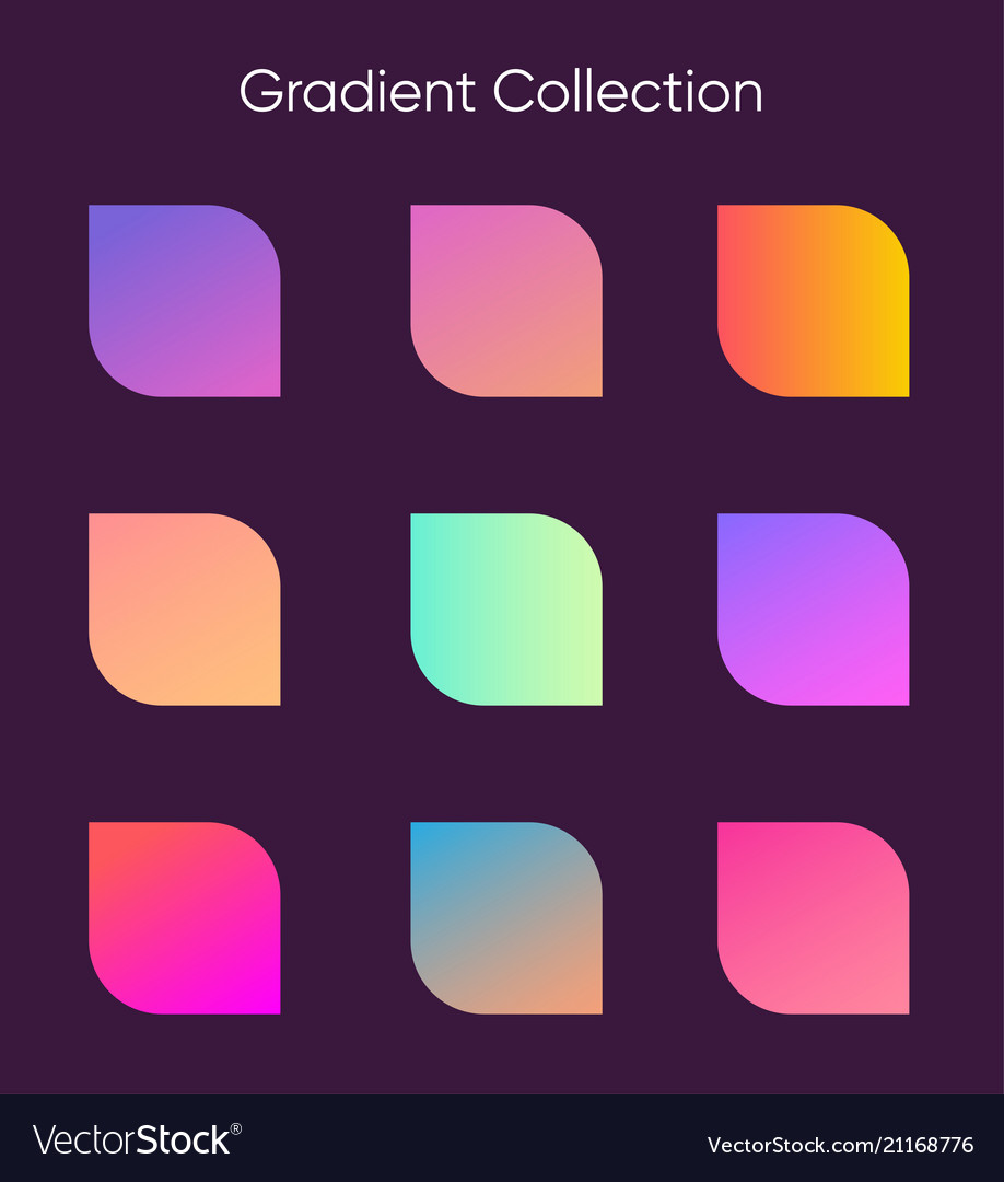 Gradient sample set colorful gradients for poster