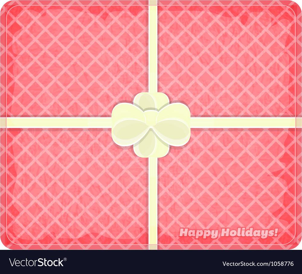 Holiday box vector image