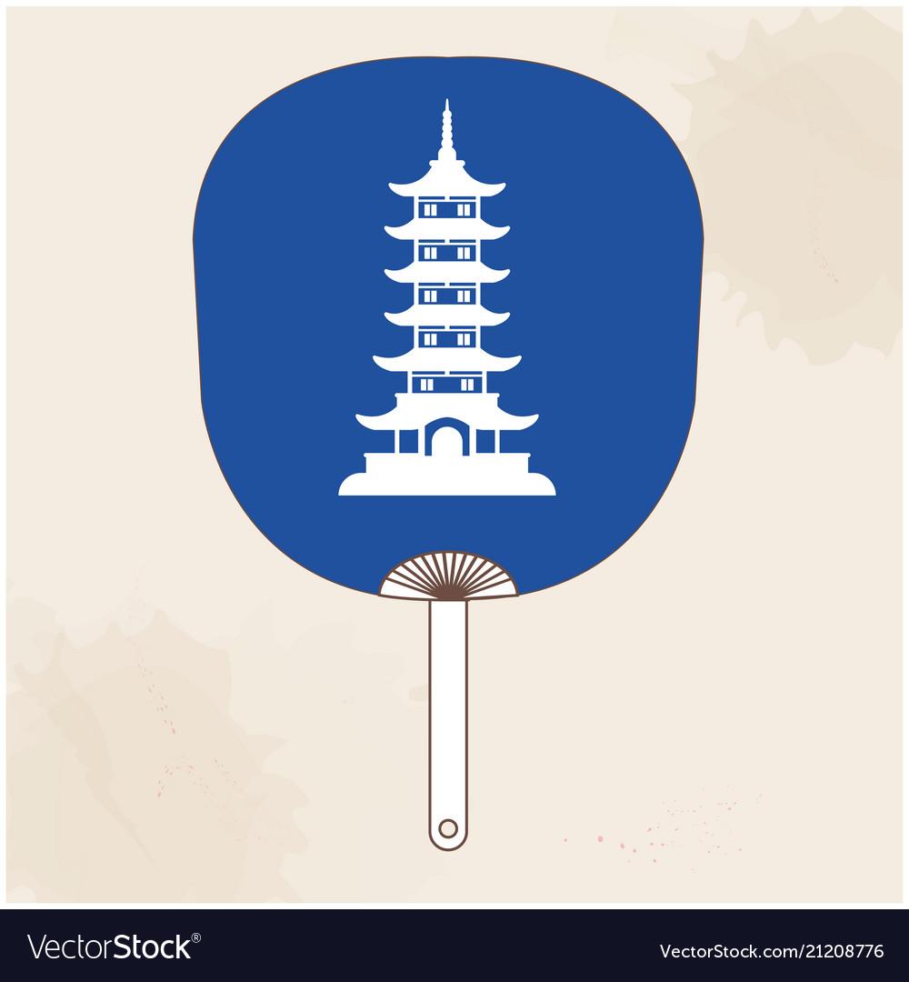 Japanese fan japan pagoda background image