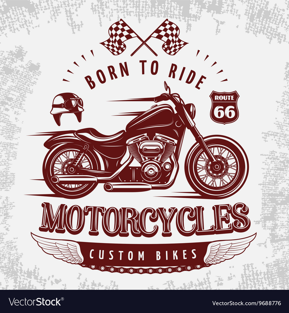 Motorcycle Grey Poster vector image