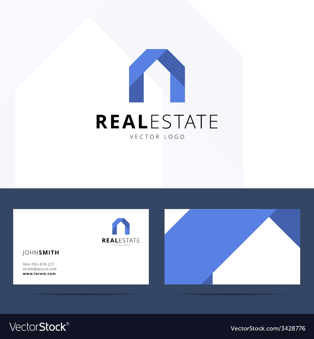 real estate logo template royalty free vector image